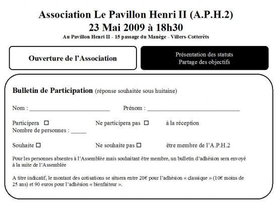 Création APH2 Invit